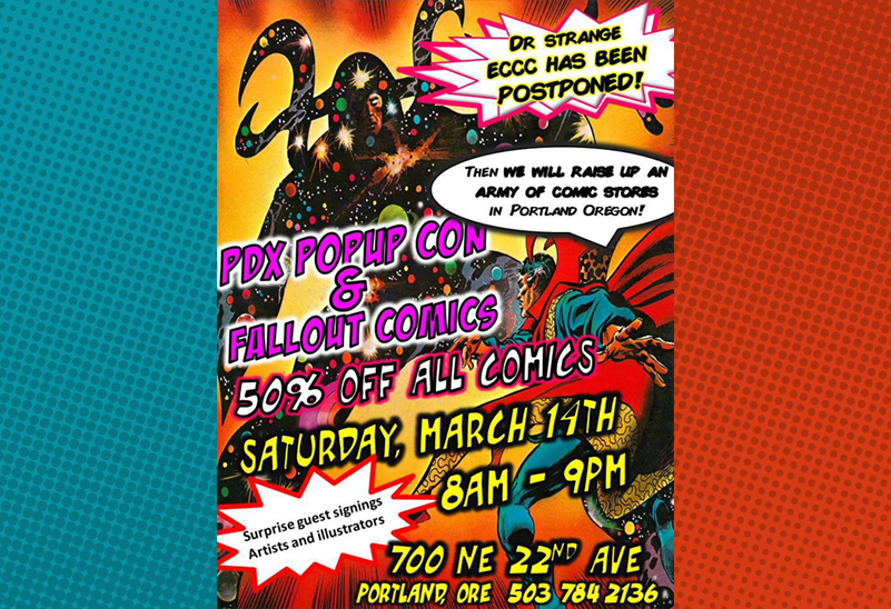 PDXpopupCon at Fallout Comics
