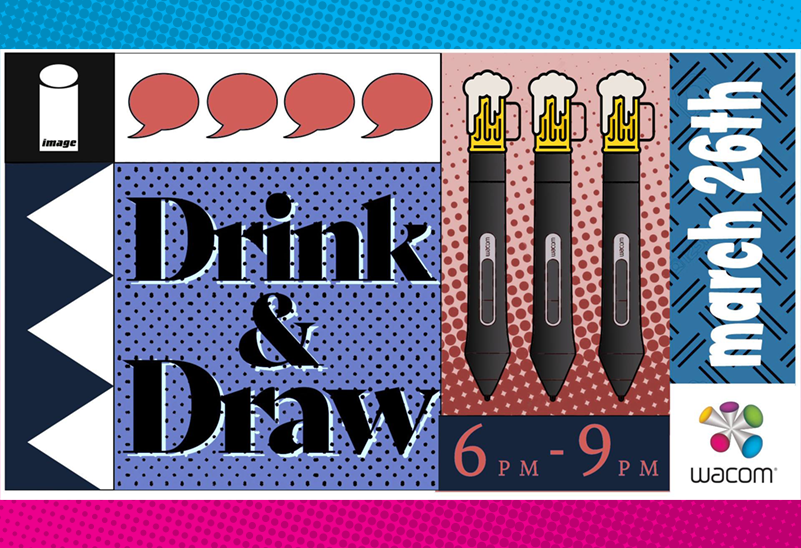 Drink & Draw with Wacom and Image Comics, April 23